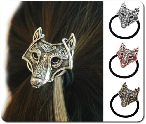 Haargummi  XL Wolf 3 D Fenris Haarband Keltisch Viking Wikinger Celtic Metall