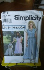 Oop-Simplicity-Daisy-Kingdom-7011-misses-pinafore-amp-dress-country-sz-12-16-NEW