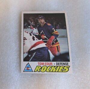 1977-78-O-Pee-Chee-Tom-Edur-Rookie-Card-Colorado-Rockies-169-RC-VG-OPC