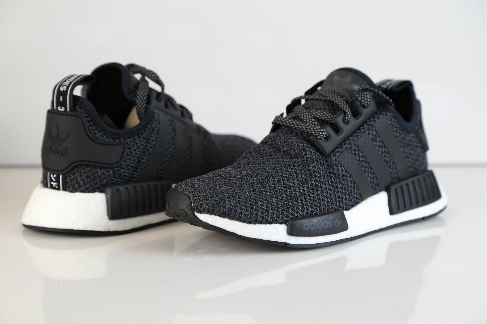 NEW Adidas NMD R1 Champ Exclusive Black Reflective 3M WOOL RARE BA7842