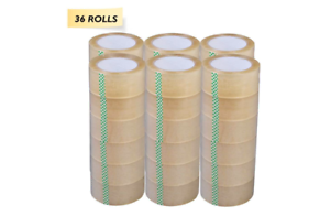 """2 mil thickness, 110yd, 36 Rolls 2/"""" Titan Clear Packaging Tape"""