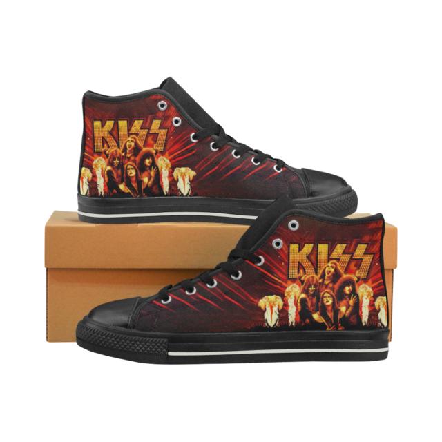 Silver Pimp 70s Disco Rock Star KISS Tribute Band Platform Mens Shoes 9 10 11 12