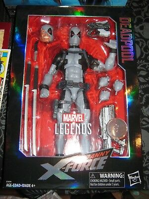 "MARVEL LEGENDS Uncanny X-Force Gris Deadpool 12/"" Figurine TRU exclusif dans la main"