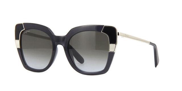 1cecd58687 NEW Salvatore Ferragamo SF889S 057 Crystal Grey   Grey Gradient Sunglasses
