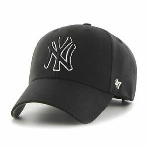 reputable site f615c de093 Image is loading New-York-Yankees-47-Brand-MVP-Clean-Up-