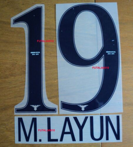 LAYUN # 19 AMERICA DE MEXICO 2014-15 AUTHENTIC NAME AND NUMBER HOME SET M