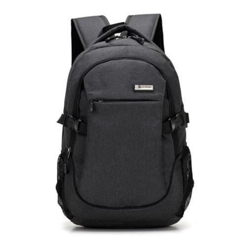 Men Waterproof Nylon Laptop School Backpack USB Charge Computer Bag 15//17 Inch