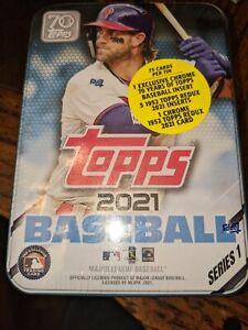 2021 Topps Series 1 Baseball Tin Trading Cards SEALED NEW Harper or Judge