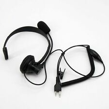 FAST  Head Headset/Earpiece Boom Mic VOX For Midland Radio GXT760 GXT795 LXT800
