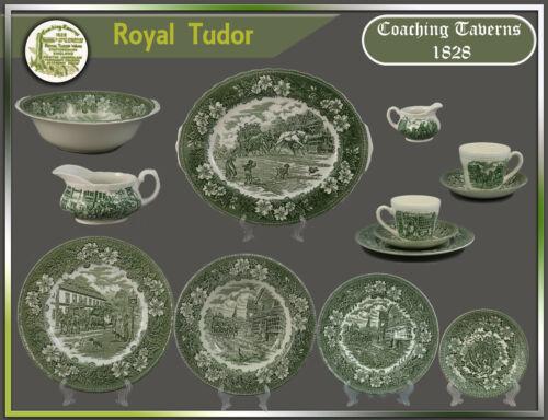 "Royal Tudor /""Coaching Taverns 1828/"" Teile zur Wahl teller platte schale tasse"