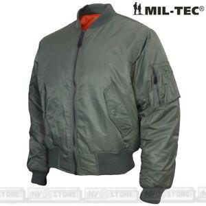 Bomber-Alpha-MA1-MILTEC-TEESAR-Nylon-100-Flight-Jacket-REVERS-Pilota-Aviatore-O
