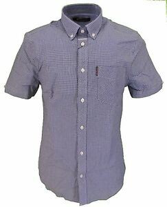 Denim Short Gingham Sherman Tab Sleeved Ben Shirts Check U7xAwCzq
