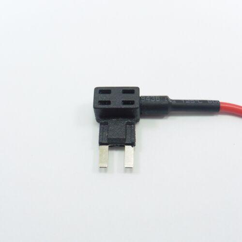 Ajouter circuit Porte-fusible Piggyback 3 A Mini fusible lame voiture moto #G25+W30