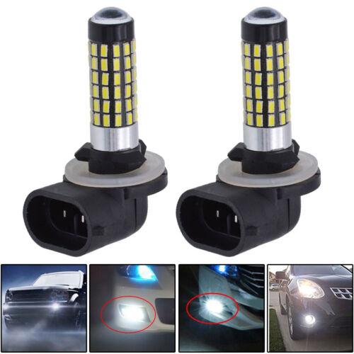 2x 6000k Lamp 3014 LED Fog Driving DRL Light 78 SMD Bulbs 881 862 885 889 894 US