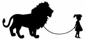 GIRL-WALKING-A-LION-Vinyl-Decal-Sticker-Car-Window-Wall-Bumper-Funny-Pet-Big-Cat