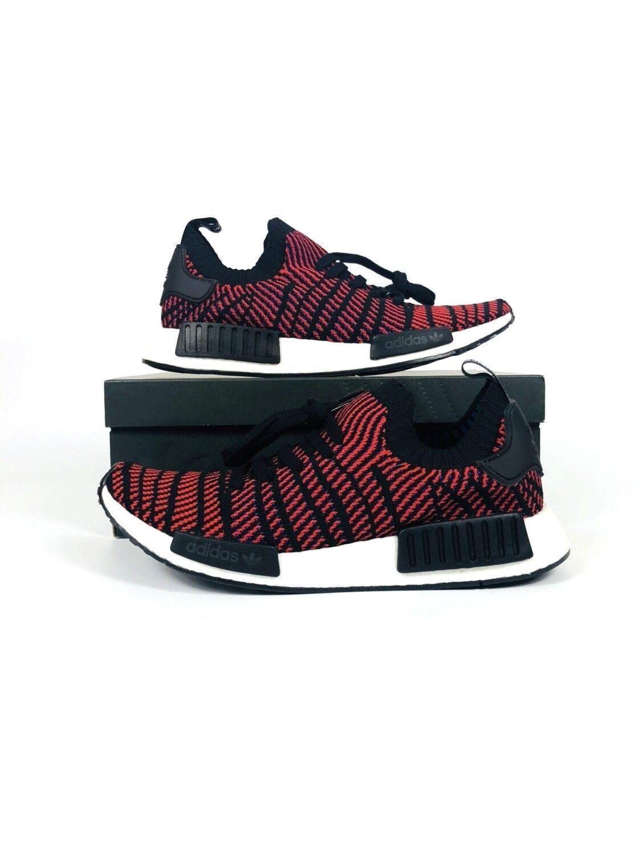 Adidas NMD_R1 STLT Primeknit shoes Core Black Red Solid CQ2385 Men's
