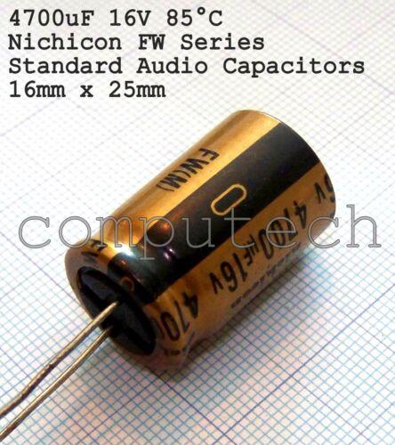 Condensatore per audio 4700uF 16V NICHICON FW HI-END Audio HiFi Capacitors