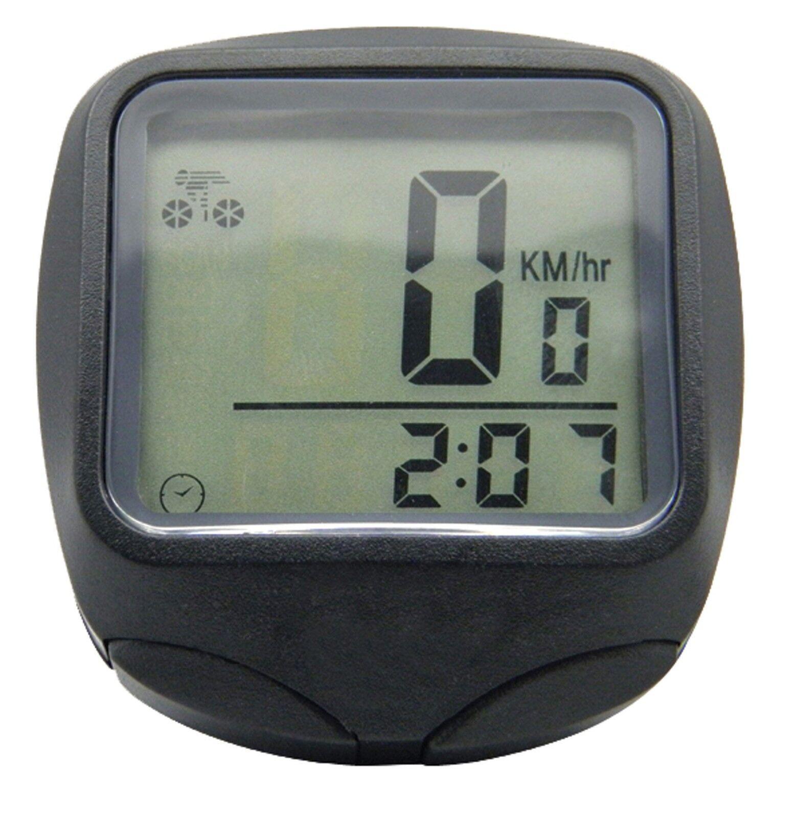 Cycle Bicycle 15 Function Large LCD Display Speedo Odometer Speedometer Computer
