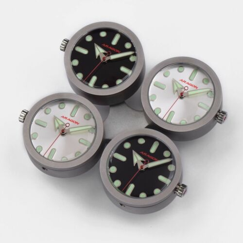 ARAGON A022BAS 4 WATCHES IN A DRONE STYLE  DESK CLOCK CITIZEN MIYOTA MOVEMENTS