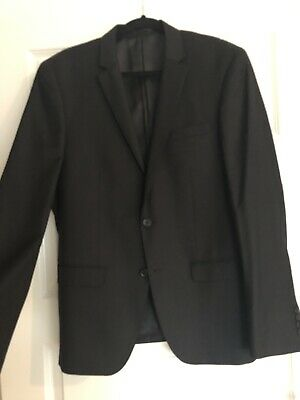 As New Bossini Suit Black Mens Rrp$499.95 Wedding Formal Size 40 Jacket 34 Pants Durable Service Men's Clothing Suits & Suit Separates