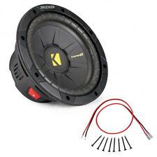 Kicker CWS8 8-inch CompS Series 2-Ohm 200-Watt RMS Sub Subwoofer Install Kit