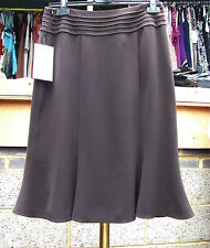 Joseph Ribkoff BNWT UK 10 Fabulous Chocolate Brown Tulip Style Mid-Length Skirt
