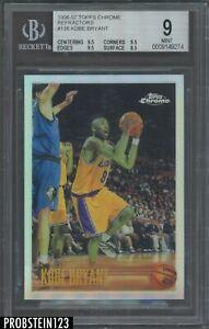 1996-97 Topps Chrome Refractor #138 Kobe Bryant RC Rookie HOF BGS 9 w/ (3) 9.5's