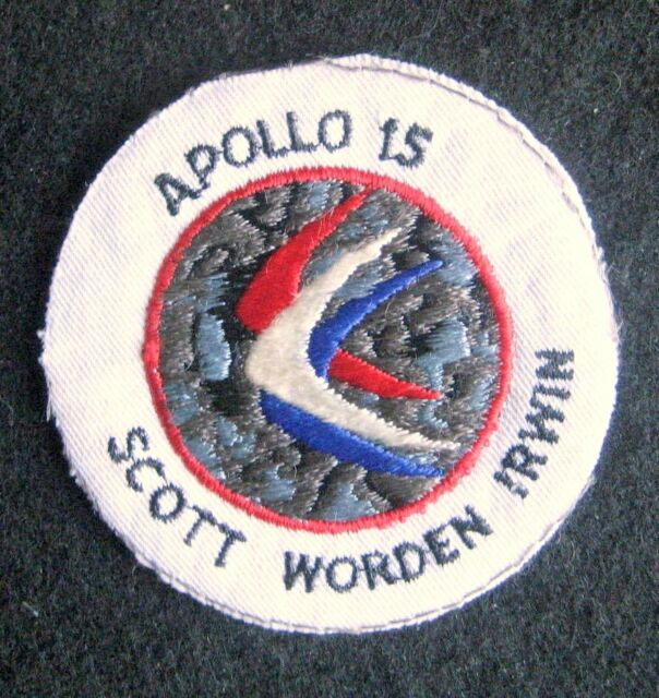 APOLLO 15 SCOTT WORDEN IRWIN EMBROIDERED SEW ON PATCH NASA SPACE SHUTTLE 3