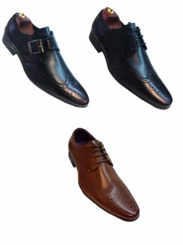 NEW MENS WEDDING LEATHERSHOES ITALIAN FORMAL DRESS OFFICE WORK CASUAL PARTY SIZE