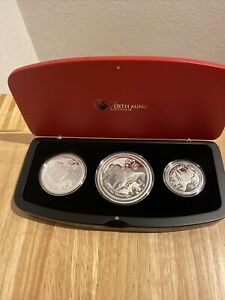 2014 Australia Lunar year of the Horse  0.5+1+2 oz. silver ONLY 1,000 coin sets