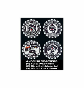 4-x-MAGPIES-WESTS-FOOTBALL-RUGBY-LEAGUE-AUSSIE-RULES-SOCCER-DRINK-COASTERS