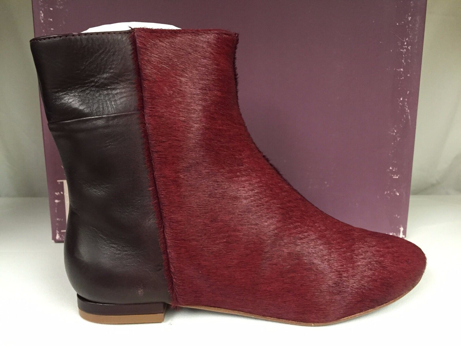 Kooba Genevieve Women's Fashion Ankle Leather Pony Hair Boots Booties Red