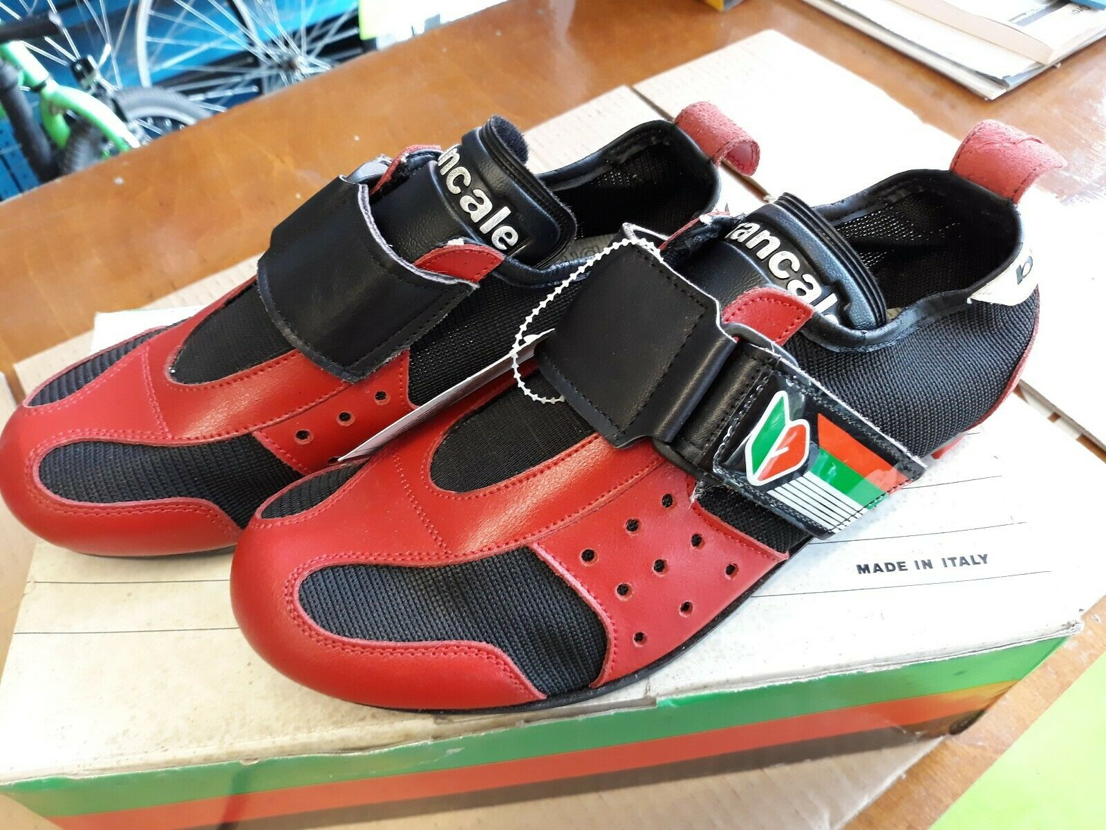 NOS Rare Vintage Brancale Road Cycling shoes Size 6.5 Classic Retro Eroica