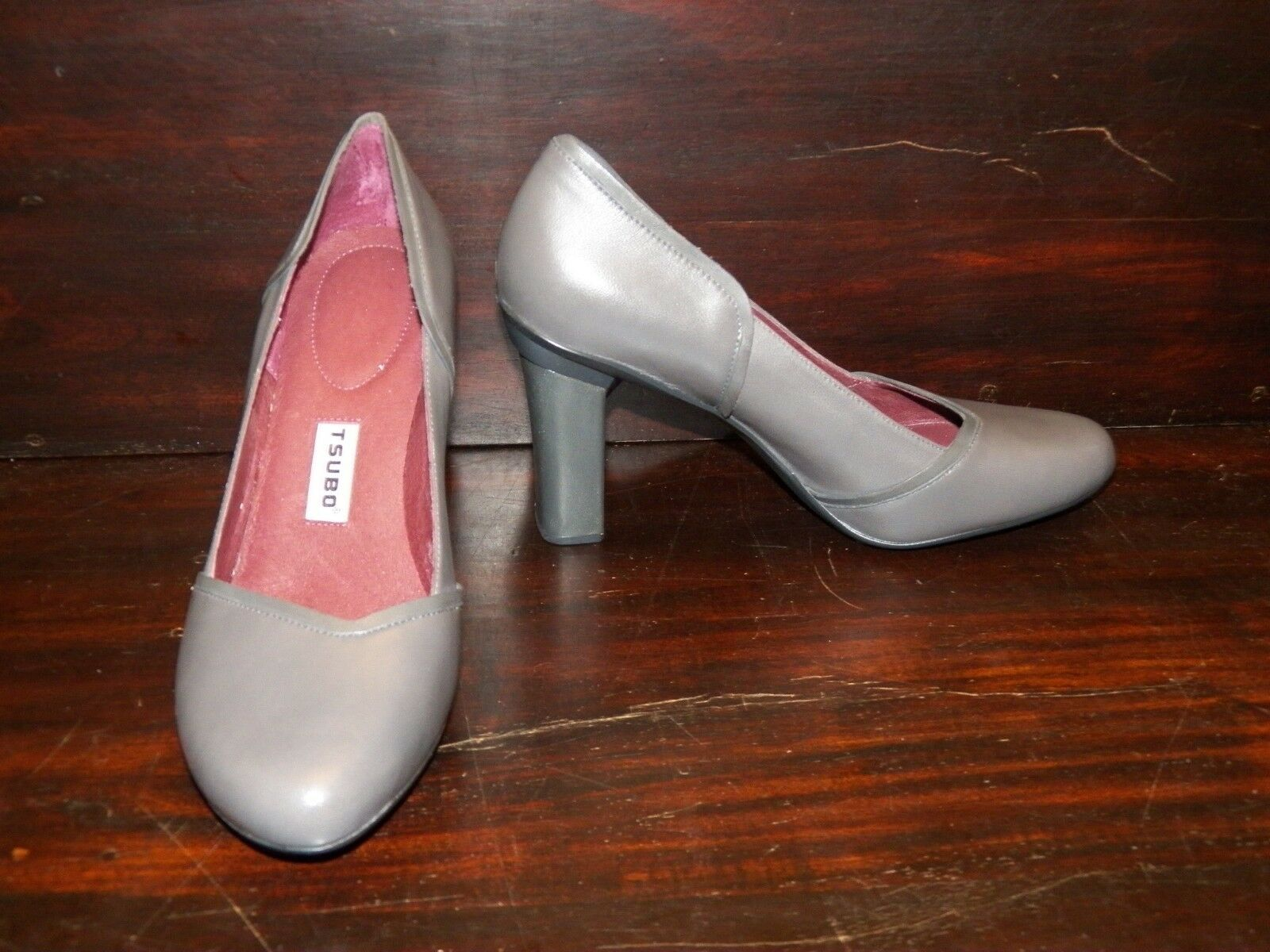 New damen damen damen TSUBO Avoca Elephant grau Leather High Heel Pumps 4311d7