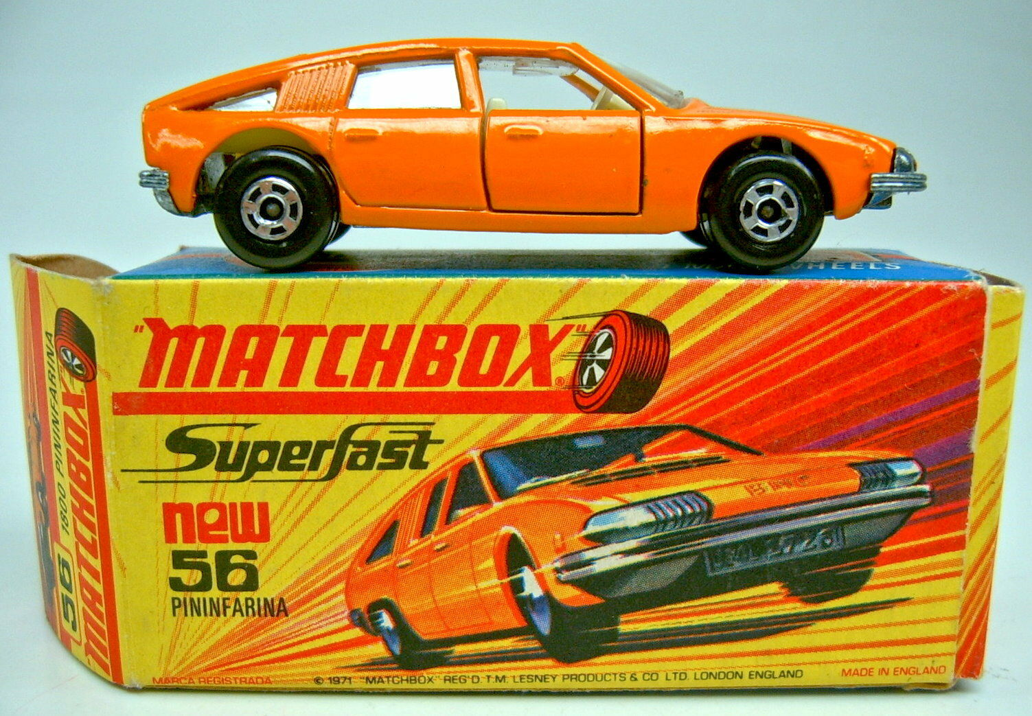 Matchbox SF Nr.56A BMC Pininfarina orange breite Räder in in in  I  Box 65b470