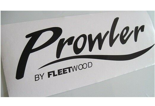 (ORIGINAL LOOK) 2 PROWLER DECALS STICKERS FLEETWOOD RV CAMPER WHEEL TRAILER TS