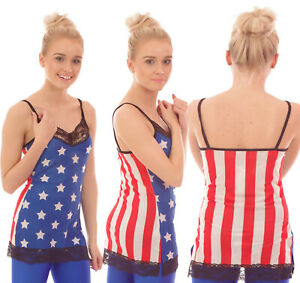 Stars-amp-Stripes-Vest-de-Superdry-sin-mangas-Fiesta-De-Disfraces-Detalle-De-Encaje-alternativa