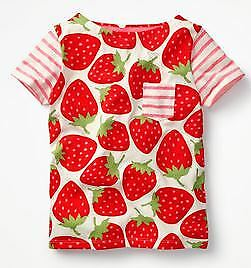 strawberry rainbow hotchpotch flower Mini Boden  t-shirt top dinosaur