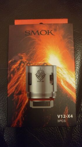 3 Pack of Smok V12 X4 Coils for TFV12 King Beast Tank *** GENUINE PRODUCT ***