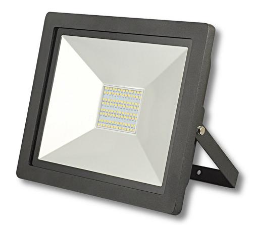 LED SMD Fluter 100W 6500lm IP65 schwarz kaltweiß 6500K 120° direkt an 230V