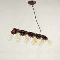 Hl430 10 Head Vintage Industrial Copper Pipe Fixture Water Pipe Ceiling Lamp