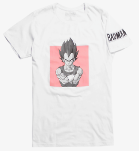 Dragon-Ball-Z-VEGETA-BADMAN-T-Shirt-NEW-Authentic-amp-Official