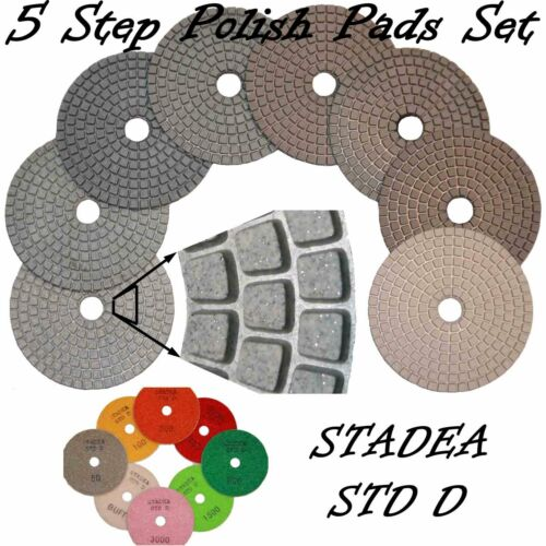 "STADEA 4/"" Diamond Polishing Pads Grit 400 Wet//Dry Pad"