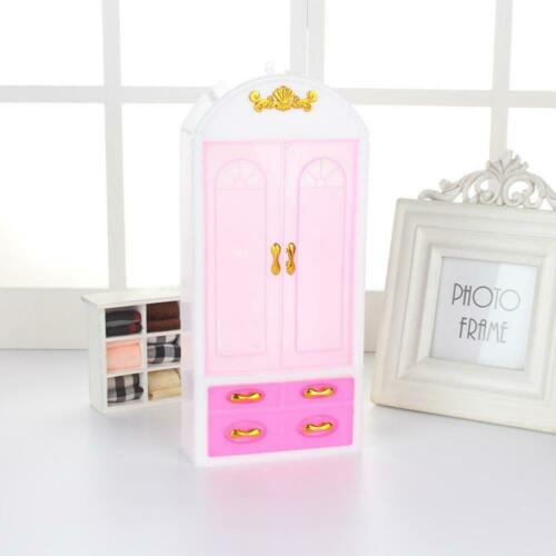 Dollhouse Bedroom Furniture Fantasy Princess Pink Closet Wardrobe Home Decor FS