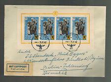 1942 Belgium Feldpost Cover Waffen SS to Germany Kurt Eggers Media Unit D'Alquen