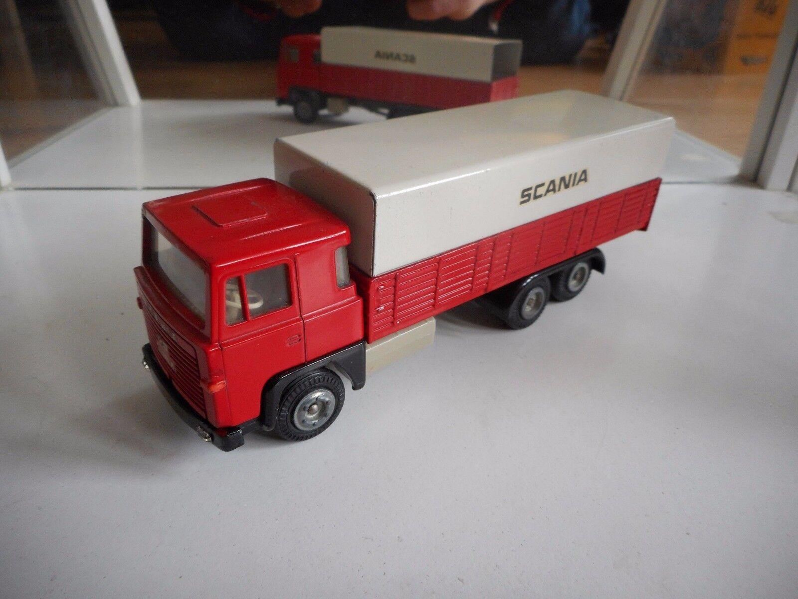 Tekno Denmark Scania 140 Super in Red White on 1 50