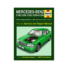 Mercedes C Class 1.8-2.3 Petrol 2.2 2.5 Diesel 93-00 (L to W Reg) Haynes Manual