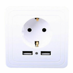 EU AC Power Wall Socket Chargeur plug Remplacement Outlet Panel STATION 16 A 250 V
