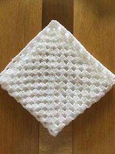 Hand Crochet Small Baby Blanket Preemiecar Seatpramdolls Ebay