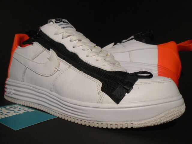 NIKE AIR LUNAR FORCE 1 SP ACRONYM ZIP OFF WHITE CRIMSON BLACK 698699 116 8.5